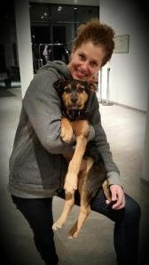 Jacobellis and her adopted mutt from Russia